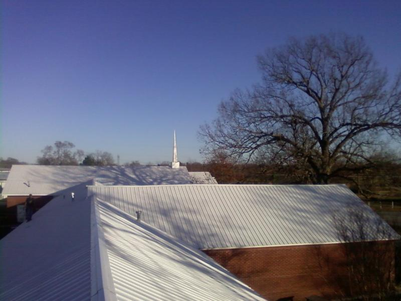 recomend us for your church roof  this is one we did late 2009